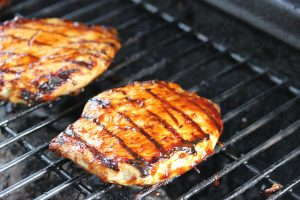 barbecued buttermilk chicken breasts grill picture