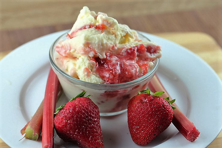 strawbberry rhubarb custard ice cream recipe