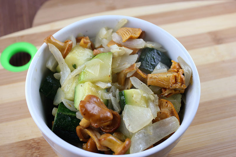 Sauteed Chanterelle Mushrooms and Zucchini Recipe