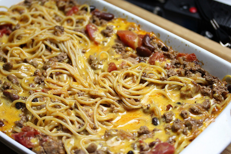 Chili Spaghetti Casserole Cully S Kitchen