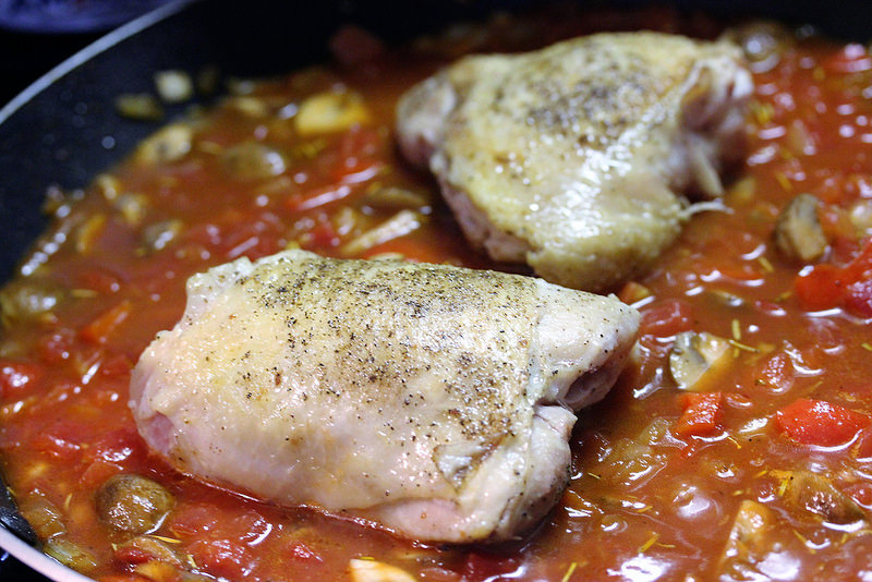 Chicken Cacciatore for Two prep 4
