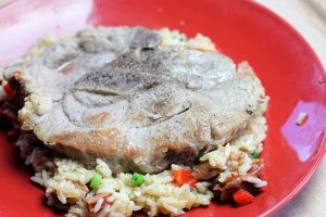 Pork chops with dirty rice recipe picture