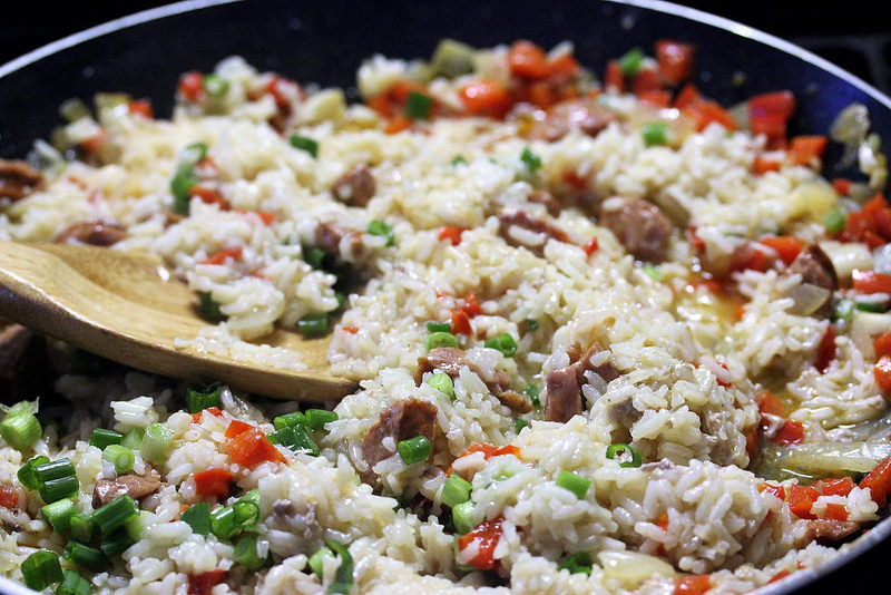 Pork chops with dirty rice recipe prep picture 4
