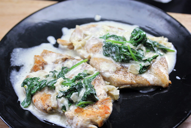 chicken Florentine for 2 recipe picture