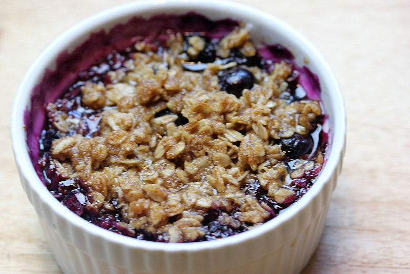 blueberry crumble recipe picture