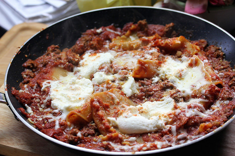 skillet lasagna for two picture 2