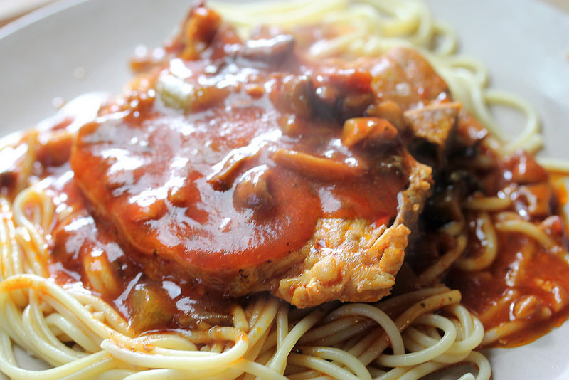 pork and spaghetti recipe picture